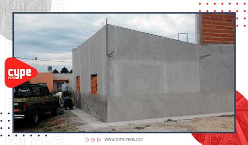 vivienda unifamiliar de cemento