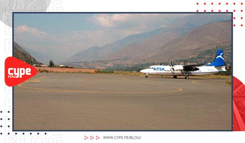 avion en campo