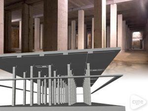 Depósito de retención de aguas pluviales
