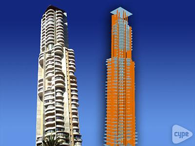 Edificio Negurigane. 145 m de altura. 40 plantas. Benidorm (Alicante)