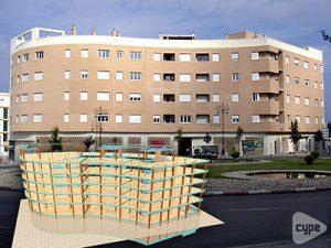 Edificio de 64 viviendas, locales y dos sótanos de aparcamiento en San Fernando (Cádiz)