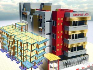 Edificio de viviendas con tres plantas para alquilar en Bamako. Mali