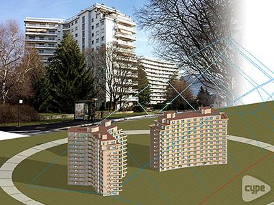 Edificio de viviendas en Barberaz, Francia.