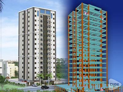 Edificio residencial con 15 plantas y sótanos en Brasil