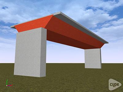 Modelo de tablero de puente mixto realizado mediante láminas 3D