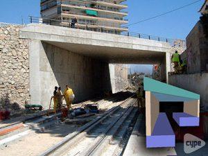 Paso inferior sobre las vías del TRAM (Alicante)