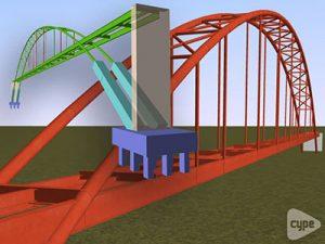 Puente peatonal metal, San Francisco de Macoris. (República Dominicana)