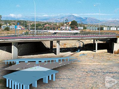 Puente sobre el barranco de Orgegia y Juncaret (Alicante)