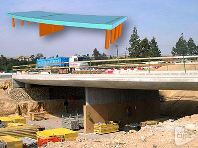 Rotonda puente sobre el barranco del Juncaret (Alicante)