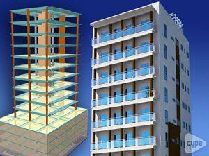 Torre Techo Alto. Edificio residencial de 15 niveles. (República Dominicana)