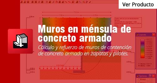 programa Muros en ménsula de concreto-armado cype peru