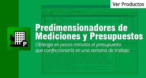 programa Predimensionadores de Mediciones y Presupuestos cype peru