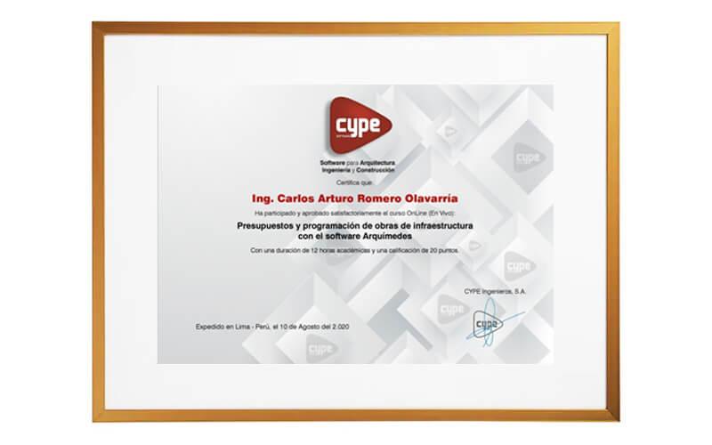 certificado cype
